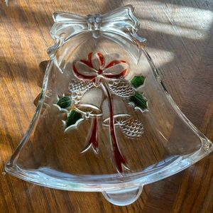 Holiday bell candy dish